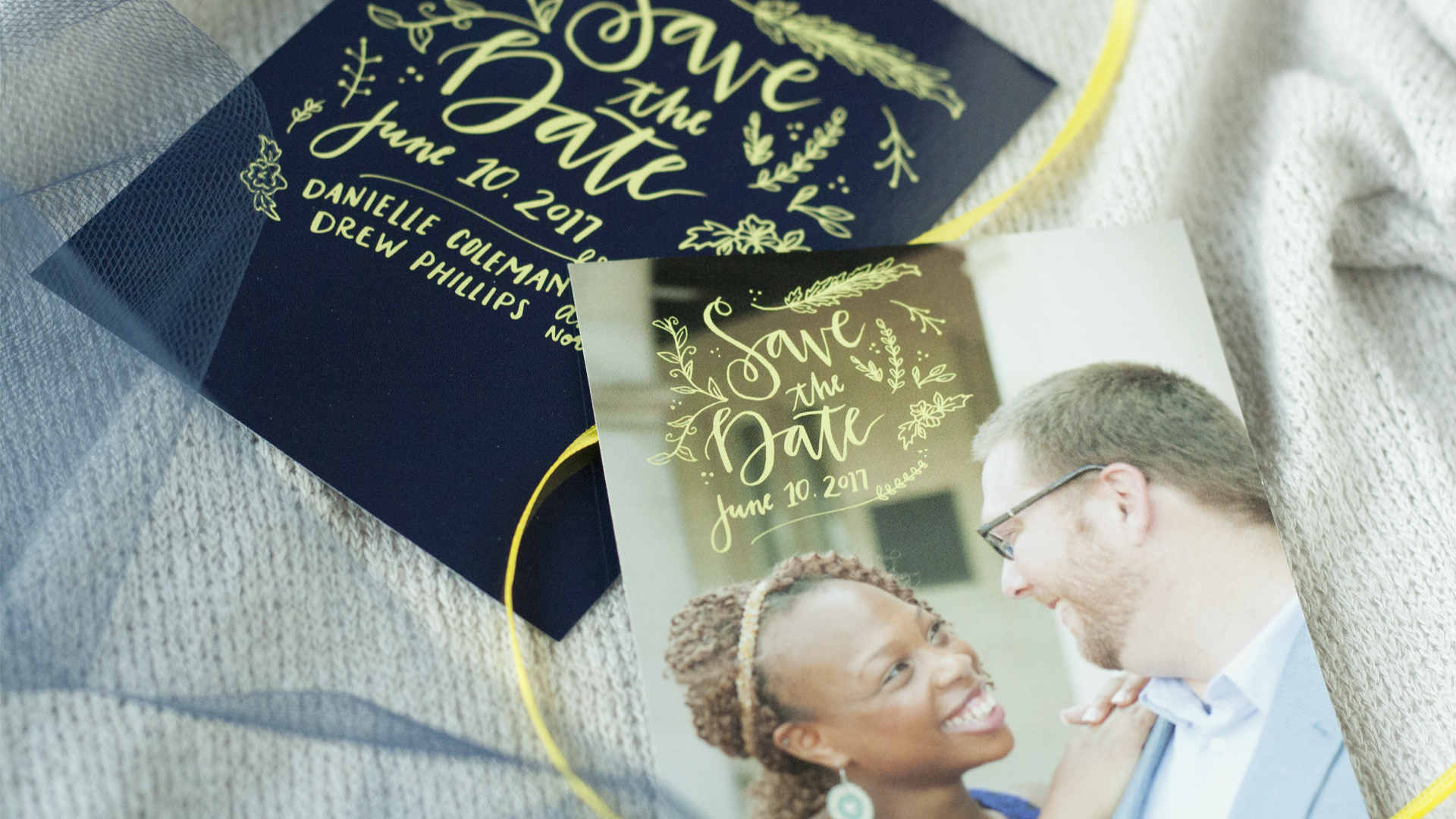 CeindyDoodles Danielle and Drew Save the Date