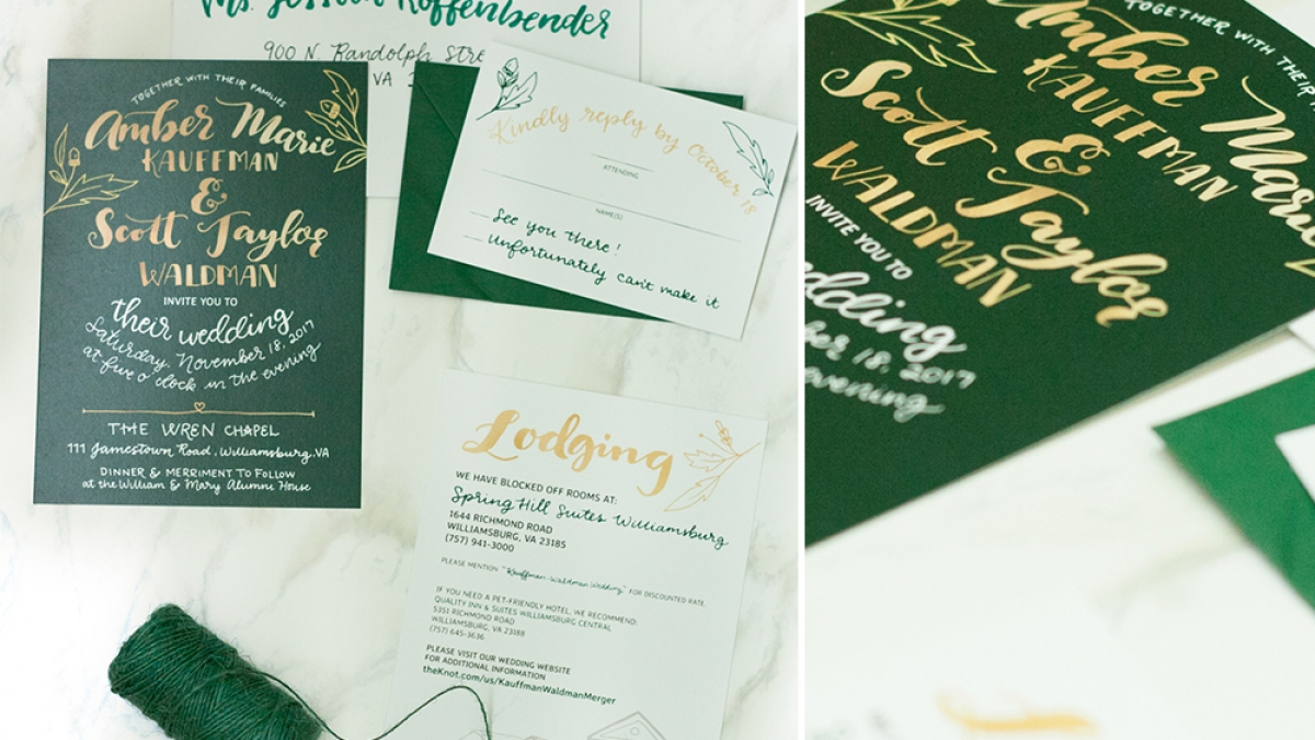 Ceindy Doodles Amber and Scott Invitation